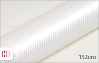 Hexis HX30CABPEB Carbon Pearl White Gloss