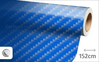 Blauw 2D carbon look sticker