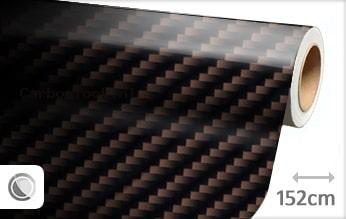 Bruin 2D carbon look sticker