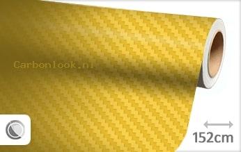 Geel 3D carbon look sticker