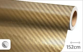 Goud chroom 3D carbon look folie