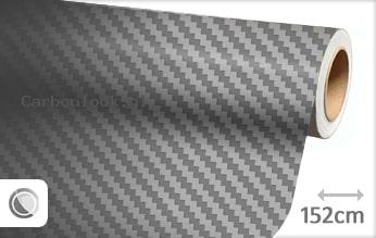 Grijs 3D carbon look sticker