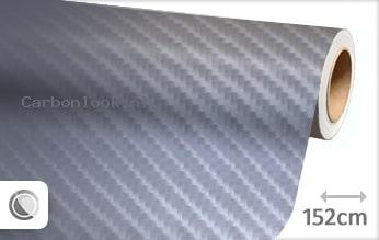 Grijs 4D carbon look sticker