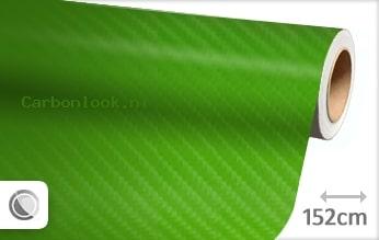 Groen 4D carbon look folie