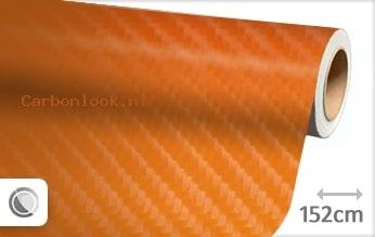Oranje 4D carbon look folie