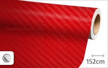 Rood 4D carbon look sticker