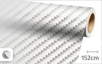 Wit 2D carbon look sticker