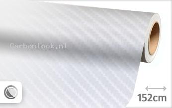 Wit 4D carbon look sticker