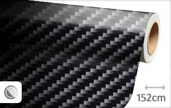 Zwart 2D carbon look sticker