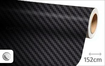 Zwart 3D carbon look folie